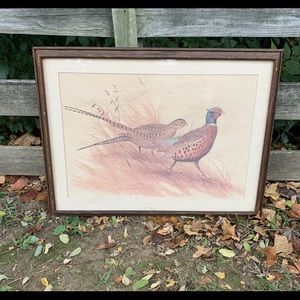 Maynard Reece GRACEFUL PAIR-RING NECKED PHEASANTS